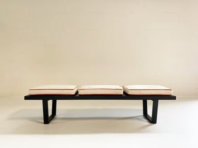 George Nelson, 'Platform Bench with Cowhide Cushions', Late 20th century