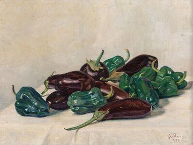 Georges Emile Lebacq, 'Aubergines et poivrons', 1922