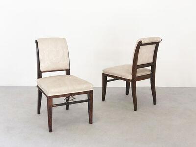 Jacques-Emile Ruhlmann, 'Pair rare Chair', ca. 1920
