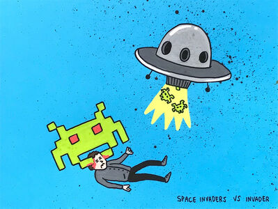Laurina Paperina, 'Space Invaders VS Invader', 2018