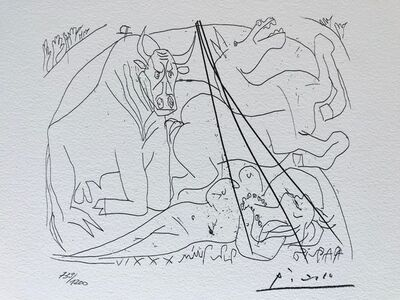 Pablo Picasso, 'Femme torero III (Suite Vollard Planche XXIV)', 1973