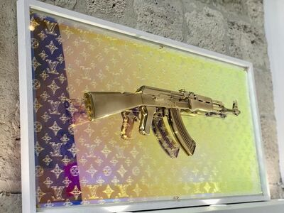 GHOST ART, 'AK47 - LOUIS VUITTON - GOLD', 2019