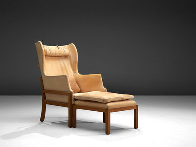 Mogens Koch, 'Wingback Chair and Ottoman Model MK50', Design 1936, manufactured 1964, 1979.