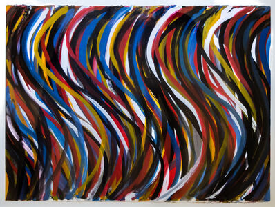 Sol LeWitt, 'Irregular Vertical Brushstrokes with Colors Superimposed', 1993