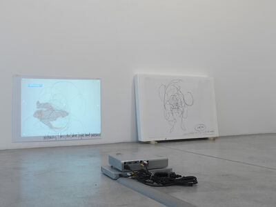 Peter Welz, 'Airdrawing. Whenever on on on nohow on   airdrawing', 2003