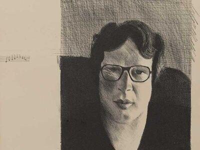 David Hockney, ''Michael Crichton'', 1976