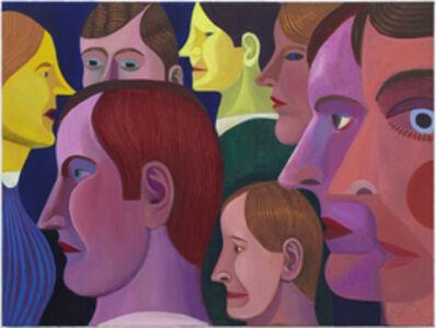 Christoph Ruckhäberle, 'Die Stadt (people in profile)', 2011