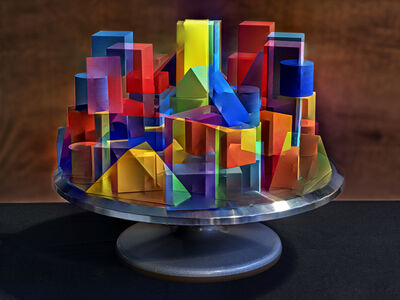 Abelardo Morell, 'Primary Color Geometric Shapes Rotated', 2019