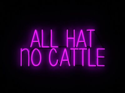 Mary Jo McGonagle, 'ALL HAT NO CATTLE', 2018