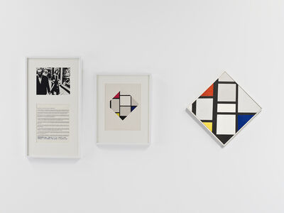 Douglas Huebler, 'Variable Piece #70: 1971 (In Process) Global, Crocodile Tears: The Great Corrector (Mondrian)', 1987