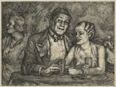 Jared French, 'The Prizefighter and the Lady', ca. 1936