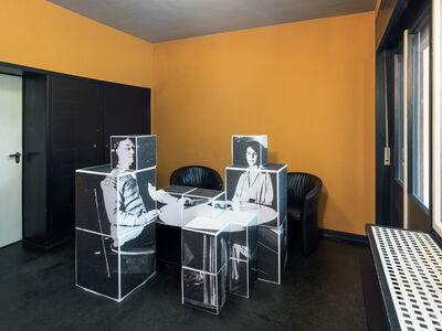 Georg Brückmann, 'Bauhaus Dessau 17 - Nina und Wassily im Esszimmer', 2017