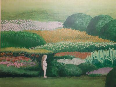 Isabel Villar, 'Embarazada en jardín', 1970