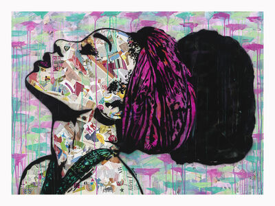 Amy Smith, 'Head in the Clouds - Contemporary POP Art Female Print ', 2020