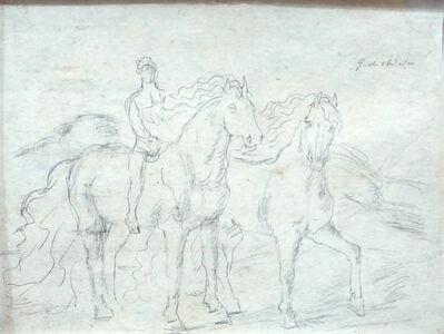 """Giorgio de Chirico, 'Sketch for """"The Horses""""', 1920s"""