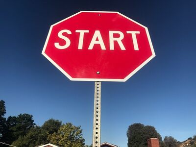 """Scott Froschauer, '""""Start"""" - Contemporary Street Sign Sculpture', 2018"""