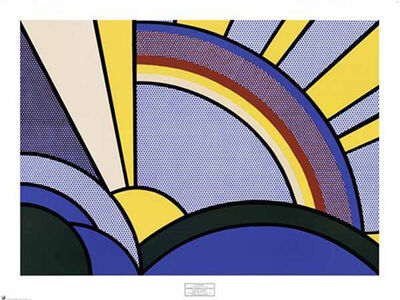 Roy Lichtenstein, 'Modern Painting of Sun Rays (poster)', 1972