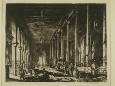 Muirhead Bone, 'Rialto Market, Venice', ca. 1920