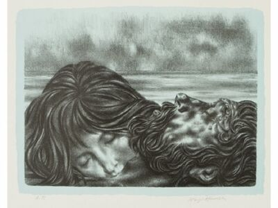 """Joseph Hirsch, 'Couples (includes """"Couple and One"""", """"Nereid and Poseidon"""", """"Wakening"""", """"Hammock"""", """"Hands at Rest"""", and """"Centaur"""")', 1970"""