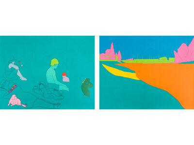 Michael Craig-Martin, 'Deconstructing Seurat (turquoise green)', 2004