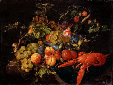 Cornelis de Heem, 'A Lobster, Fruit and Flowers', undated