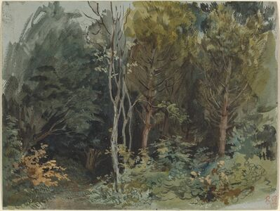 Eugène Delacroix, 'The Edge of a Wood at Nohant', ca. 1842/1843