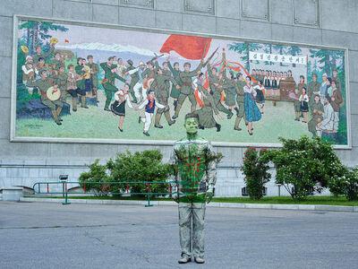 Liu Bolin, 'Hiding in North Korea - The Theater Mural', 2018