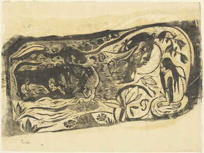 Paul Gauguin, 'Plate with the Head of a Horned Devil (Planche au diable cornu)', in or after 1895