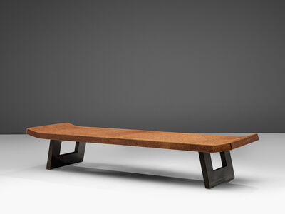 Paul T. Frankl, 'Paul Frankl Coffee Table in Cork and Mahogany', 1950s