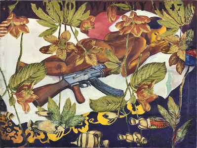 Hassan Musa, 'I love you with my AK47 (D'après Gauguin)', 2019