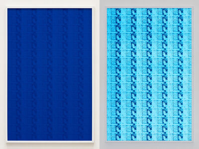 Hank Willis Thomas, '102 Fifty Pound Sterling (Blue)', 2019