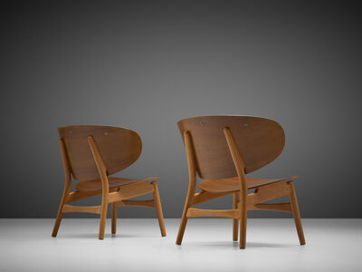 Hans Jørgensen Wegner, 'Pair of 'FH 1936' Lounge Chairs', circa 1950