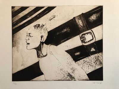 Oded Feingersh, 'Woman in Agony or Ecstasy, Modernist Israeli Etching', 20th Century