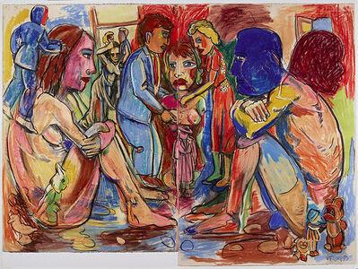 """Viola Frey, '""""Western Civilization Diptych #1"""" ', 1997"""