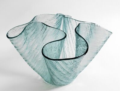 Pietro Chiesa, 'A vase 'Cartoccio' for FONTANA ARTE 50s.'