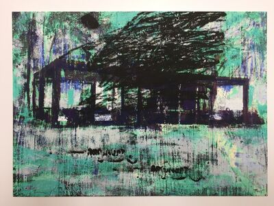 Enoc Perez, 'Glass House, I (Blue)', 2015