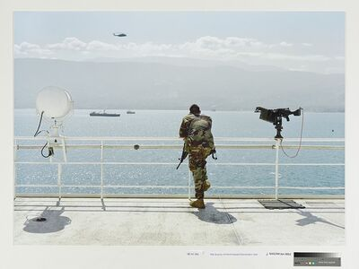 An-My Lê, 'Ship Security, US Naval Hospital Ship Comfort, Haiti', 2010
