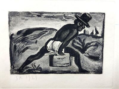 "Georges Rouault, 'Original Etching ""Ubu the King II"" by Georges Rouault', 1955"