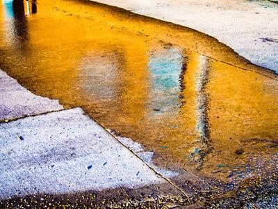 Laurie Peek, 'Orange Puddle, Blue Window, Venice FL', 2014