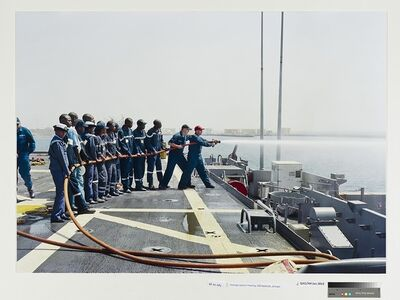 An-My Lê, 'Damage Control Training, USS Nashville, Senegal', 2009