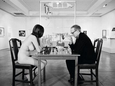 Julian Wasser, 'Eve Babitz and Marcel Duchamp playing Chess during Duchamp's Pasadena Art Museum Retrospective', 1963