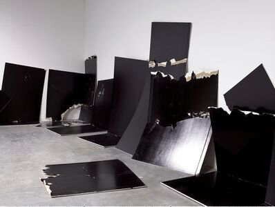 Steven Parrino, '13 Shattered Panels (for Joey Ramone)', 2001