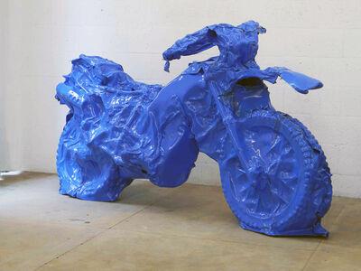 Sergio Romagnolo, 'moto azul', 2013