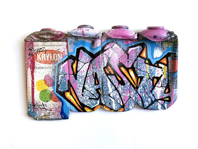 NASTY, '4 Crashed Spray Cans', 2020