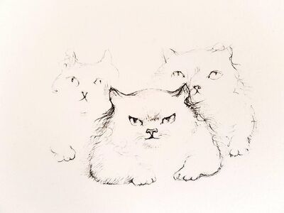 "Leonor Fini, 'Original Etching ""Cats"" by Leonor Fini', 1985"