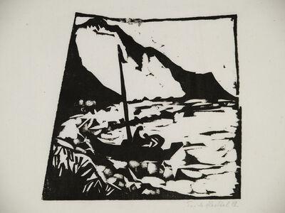 Erich Heckel, 'Boot am Ufer', 1912