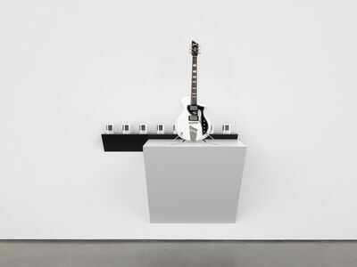 Haim Steinbach, 'Untitled (piano mugs, David Bowie guitar)', 2019