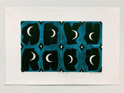 Paula Wilson, 'Mooning (Cyan)', 2019