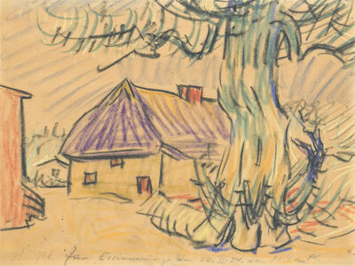 Max Pechstein, 'Fischerhaus in Rowe', 1928