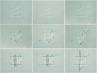 Richard Galpin, '9 Development Drawings for Travel Both Tracks (Layer and Expansion Principles)', 2015